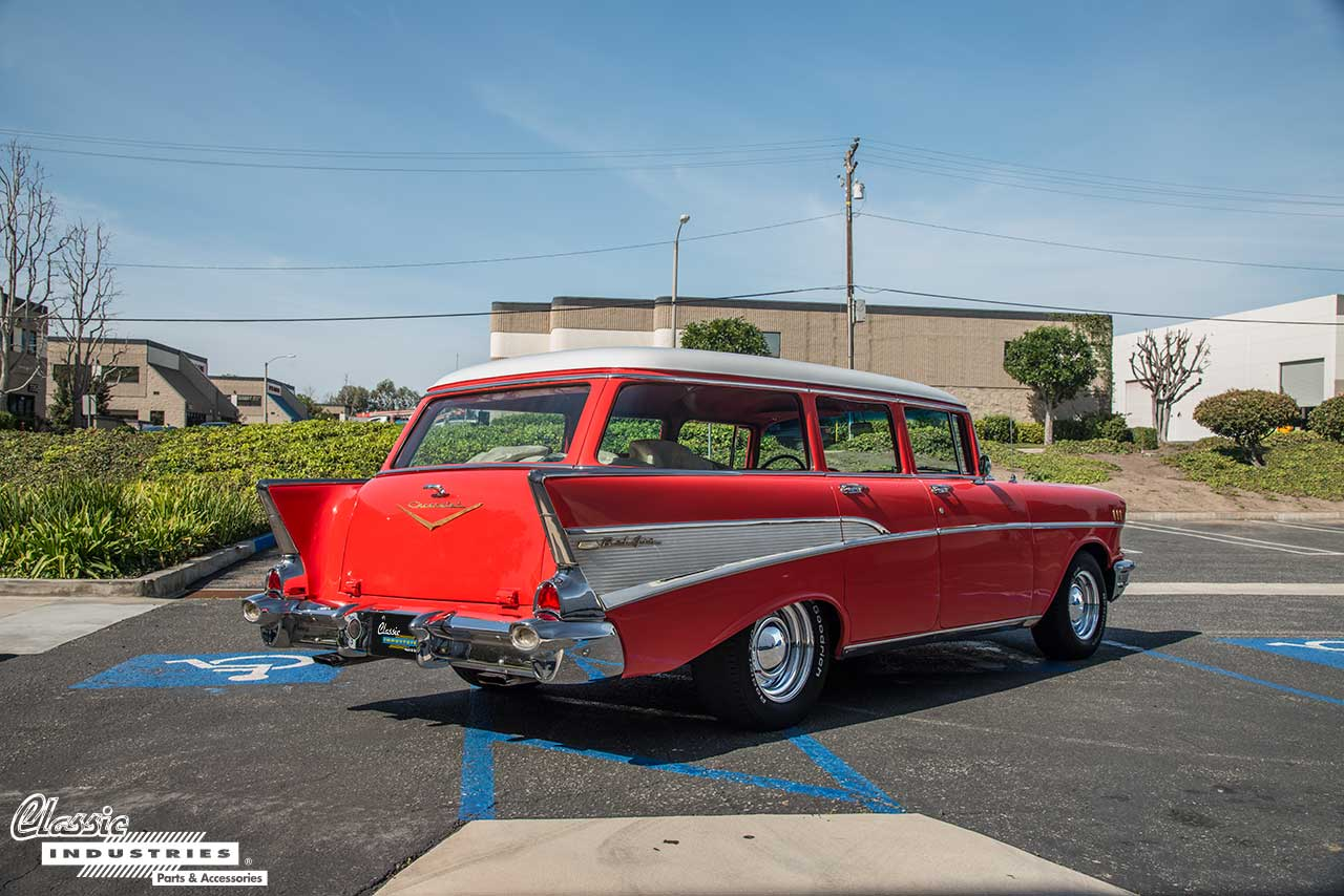 1955 1956 1957 Tri Five Chevy Parts And Accessories Upgraded Wiring Diagram However Aside From The Two Door Nomad There Was Also A Four Bel Air Wagon Body Style This Belongs Toread More